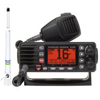 Standard Horizon Eclipse GX1300 Class D DSC VHF Radio Package, Black, w/Antenna