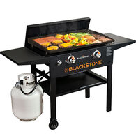 """Blackstone 28"""" Gas Griddle Cooking Station with Hard Cover"""