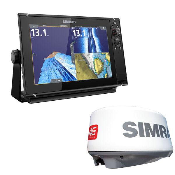 "Simrad NSS9 evo3 9"" Chartplotter/Fishfinder/Radar Bundle"