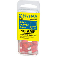 Blue Sea Systems 10A ATO/ATC Fuse (25 Pack)
