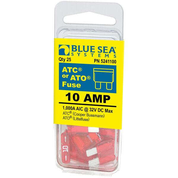 Blue Sea Systems 10A ATO/ATC Fuse (25 Pack)