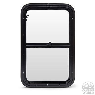 Edwin RV Entry Door Window, Black