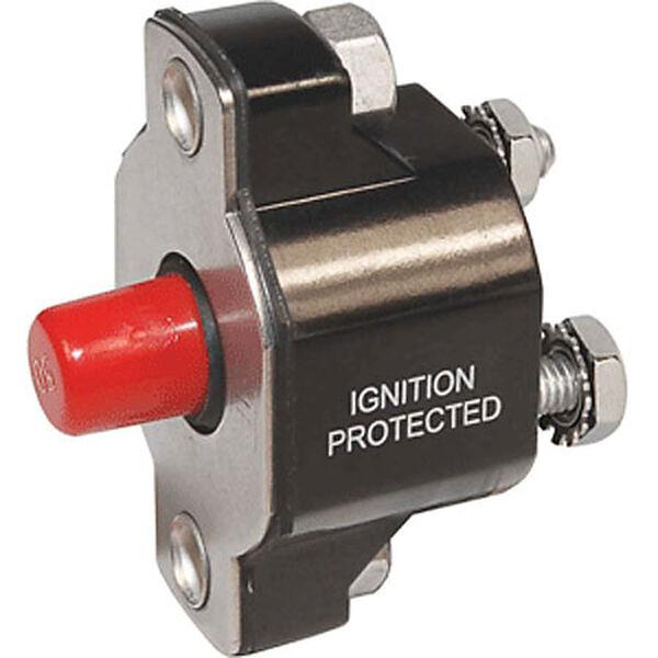 Blue Sea 2138 Medium-Duty Push Button Reset-Only, 40-Amp