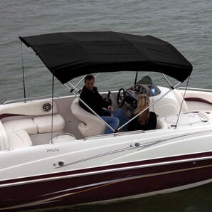 """Shademate Bimini Top Polyester Fabric/Boot Only, 4-Bow 8'L x 54""""H, 73""""-78""""W"""