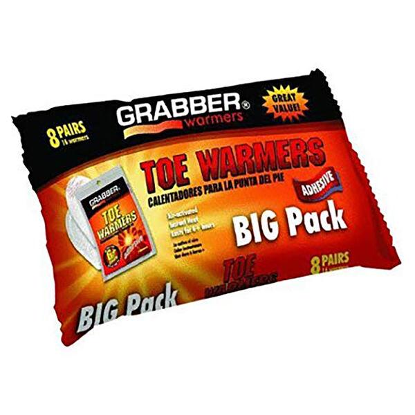 Grabber Toe Warmers, 8 Pk.