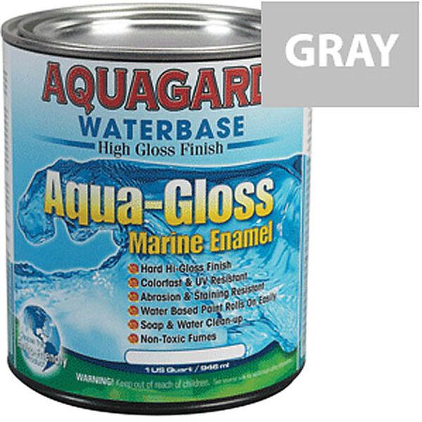 Aquagard Aqua-Gloss Waterbase Enamel, Quart, Medium Gray