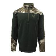 TrueTimber Men's Grid Fleece Quarter-Zip Pullover