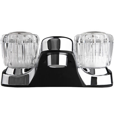 Dura Faucet RV Lavatory Faucet with Crystal Acrylic Knobs, Chrome Polished