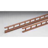 "Whitecap Teak Teak Standard Pin Rail, 5'L x 3-9/16""H x 7/8""D"