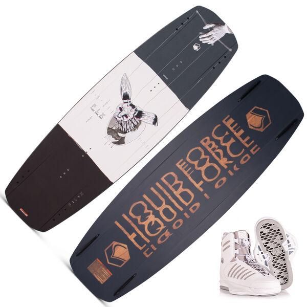 Liquid Force FLX Wakeboard with Tao 6X White Bindings