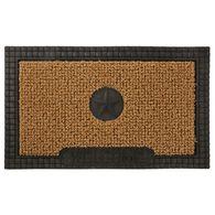AstroTurf Star Design Patio Mat, 30'' x 18'', Black/Tan