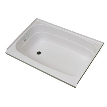"""Replacement ABS Bath Tub, 24"""" x 46"""", White with Left Drain"""