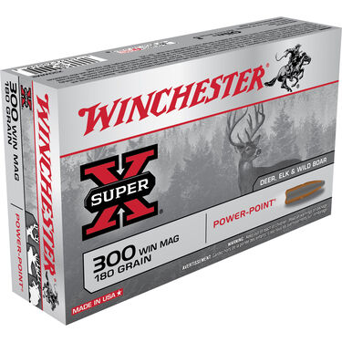 Winchester Super-X Rifle Ammo, .300 Win Mag, 180-gr., PP