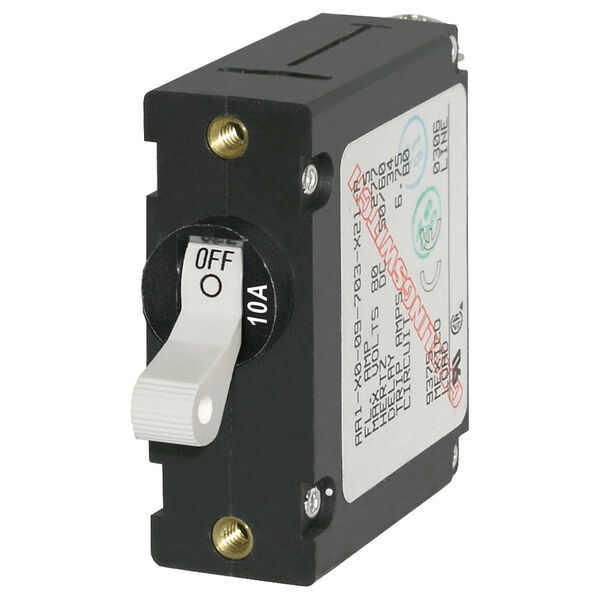 Blue Sea Systems A-Series Toggle Switch Circuit Breaker, Single Pole 10 Amp