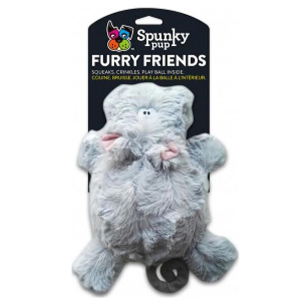 Spunky Pup Hippo with Squeaker Ball