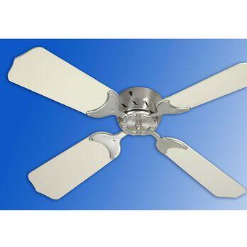 """36"""" 12V Ceiling Fan - Satin Nickel/White"""