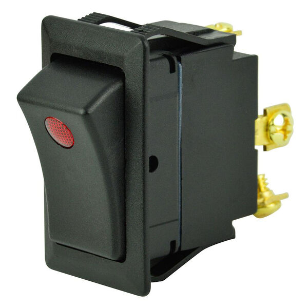 BEP SPST Rocker Switch, Off/On, One LED