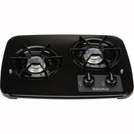 2 Burner Drop-In Cooktop, Black top