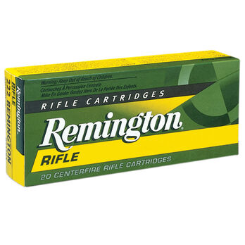 Remington High Performance Rifle Ammunition, .22-250 Rem, 55-gr., PSP, 20 Rounds