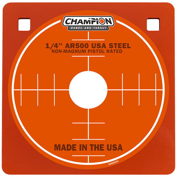 "Champion Targets Center Mass 1/4"" Square 8"" AR500 Steel Target"