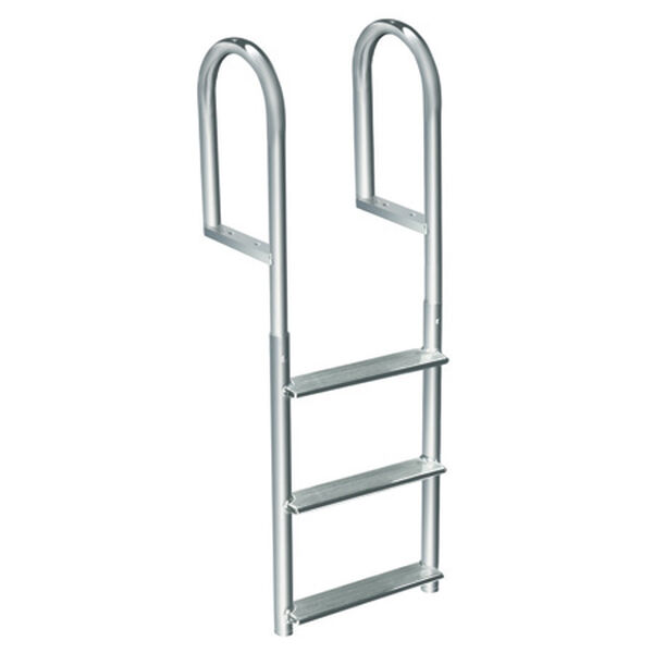 International Dock Wide-Step Stationary Dock Ladder, 4-Step