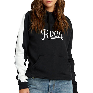 RVCA Women's Maryweather Color-Blocked Pullover Hoodie