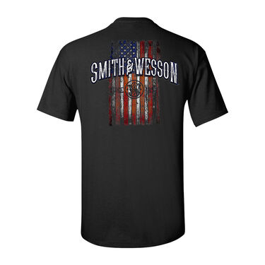Smith & Wesson Men's Distressed Vertical Flag Short-Sleeve Tee