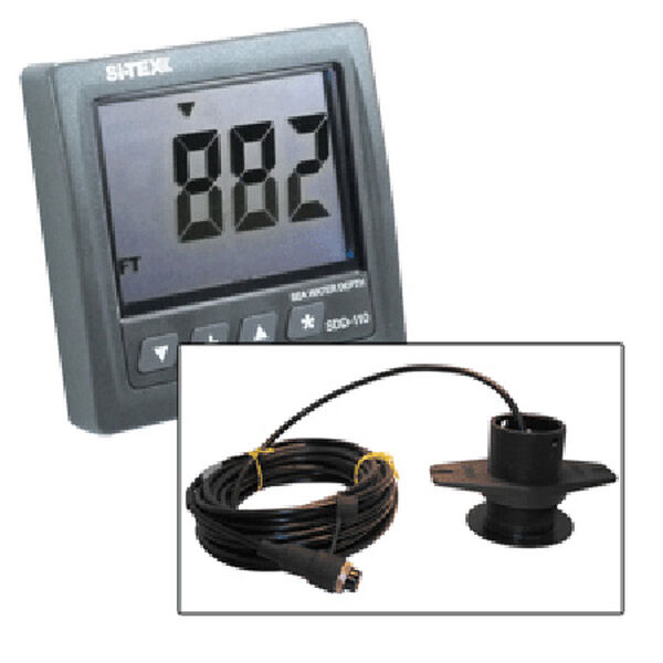 Si-Tex SDD-110 Seawater Depth Indicator With Lexan Thru-Hull Transducer