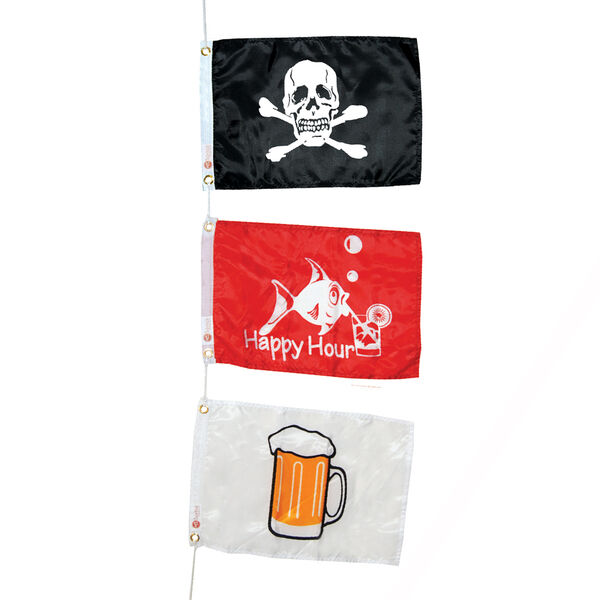 """Party Pack (3 flags), 12"""" x 18"""""""