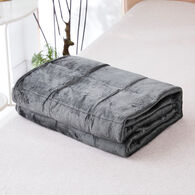 "Bon Voyage 5-lb. Reversible Weighted Travel Throw, 40"" x 50"", Gray"