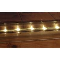 Taylor Made ClearVue Vinyl Dock Edging with Solar LED Lighting, Standard P-Shape