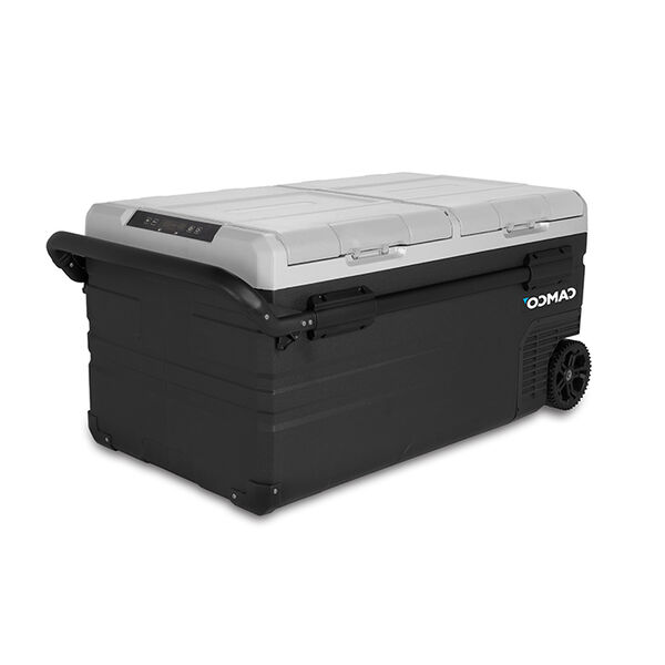 Camco 750 Portable 75-Liter Electric Cooler with Dual Zone Cooling