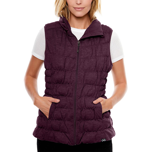 Be Boundless Women's Quilted Melange Knit Vest