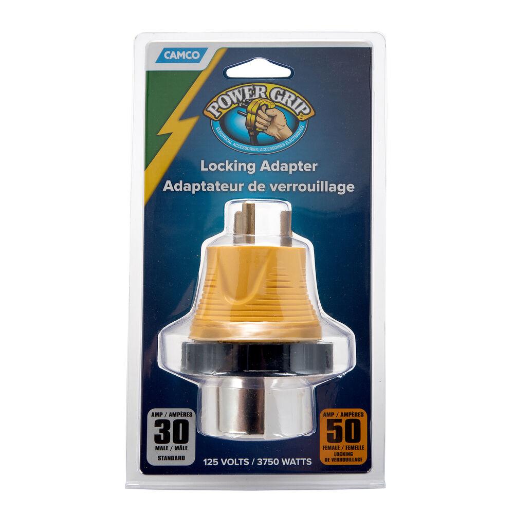Camco 30a 50a Rv Locking Powergrip Adapter Camping World