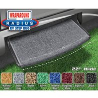 "Prest-O-Fit Wraparound Radius RV Step Rug, 22"", Stone Gray"
