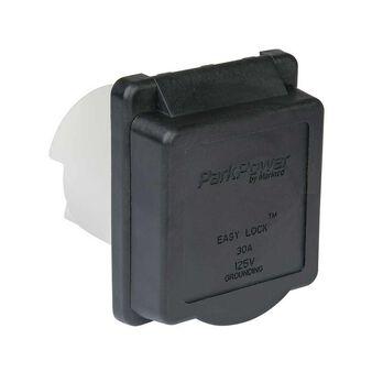 Weekender by ParkPower Electrical Inlet, 30 Amp Black Inlet