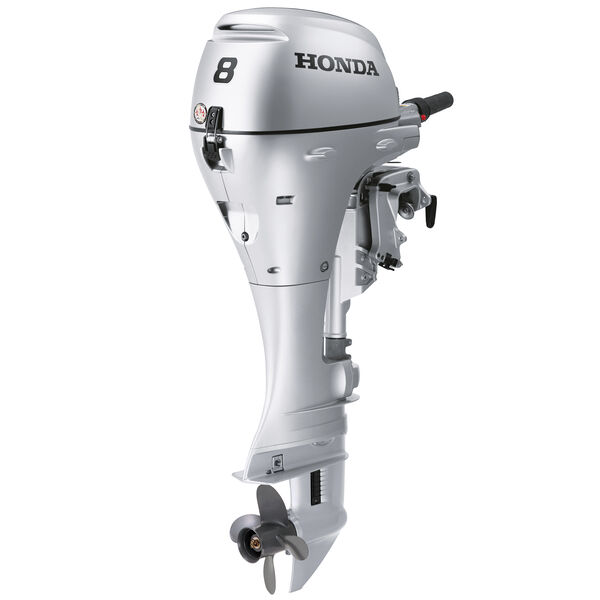 "Honda BFP8 Power Thrust Portable Outboard Motor, Electric Start, 8 HP, 20"" Shaft"