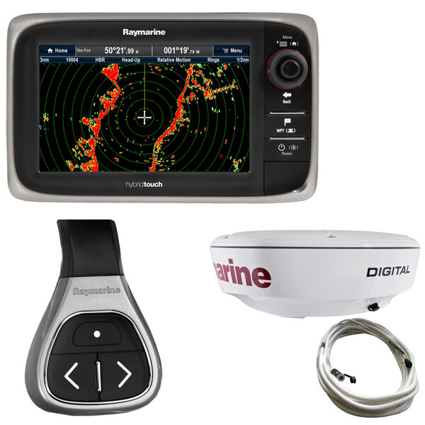 """Raymarine e7D MFD With NOAA Vector Charts And 18"""" RD418D Dome Radar"""