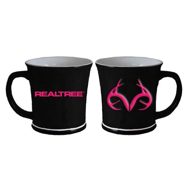 Realtree Logo Sculpted Mug – Pink Antlers, 11 oz.