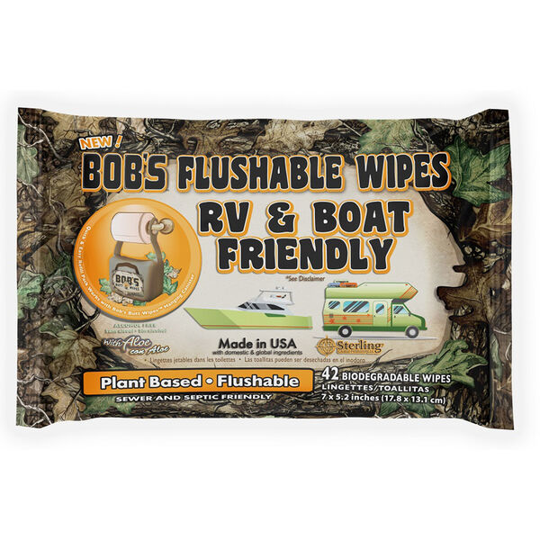 Bob's Flushable Wipes, RV & Boat Friendly