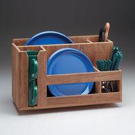 SeaForce Teak Dish/Cup/Utensil Holder