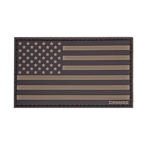 Cannae Pro Gear American Flag Left Arm Patch (Coyote)