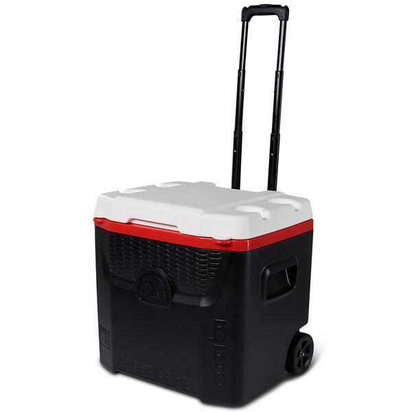 MaxCold Quantum 52-Qt. Roller Cooler, Black/Red