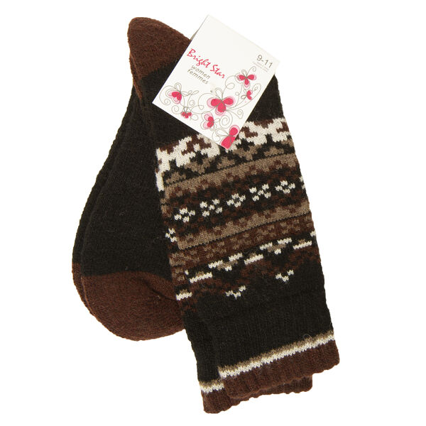 Bright Star Women's Snowflake Wool-Blend Sock