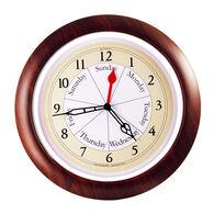 DayClocks™ Combination Series Wall Clock, Walnut