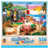 MasterPieces Paradise Beach Oceanside Camping 550-Piece Puzzle