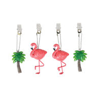 Flamingo Tablecloth Weights, Set of 4