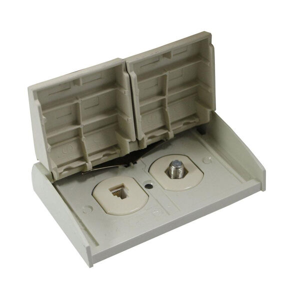 Outdoor TV/Telephone Receptacle - Ivory