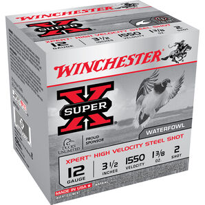 "Winchester Xpert High Velocity Steel Shot, 12-ga., 3-1/2"", 1-3/8 oz."