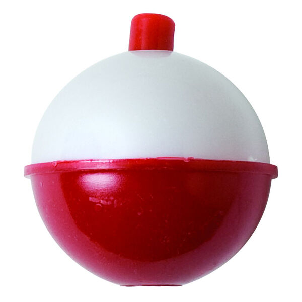Eagle Claw Snap-On Round Floats, Red/White